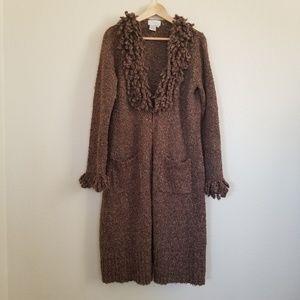 Spiegel Brown Long Sweater Cardigan Size L